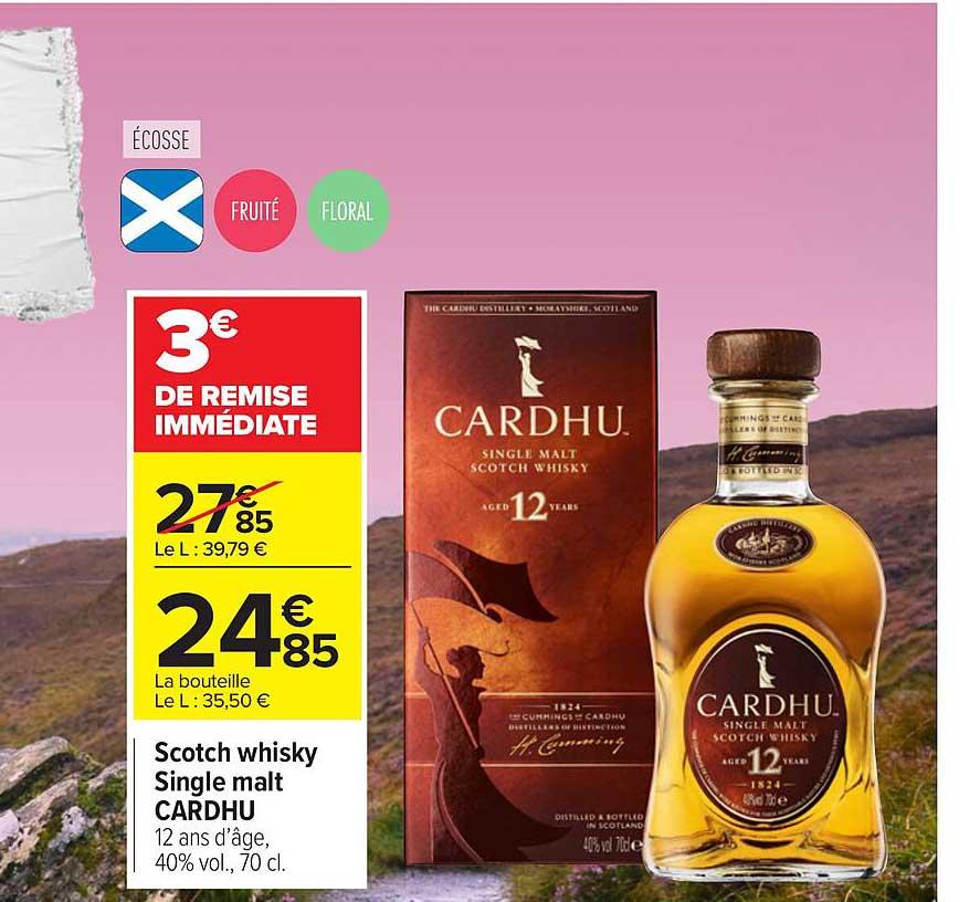 offre scotch whisky single malt cardhu