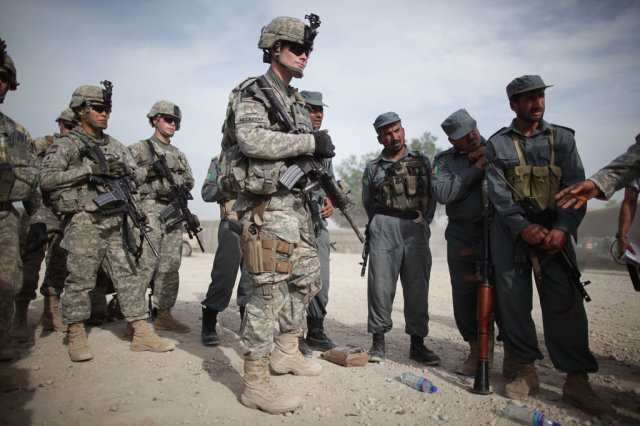 US and Afghan military official in Indian to learn more about Indian Territorial Army