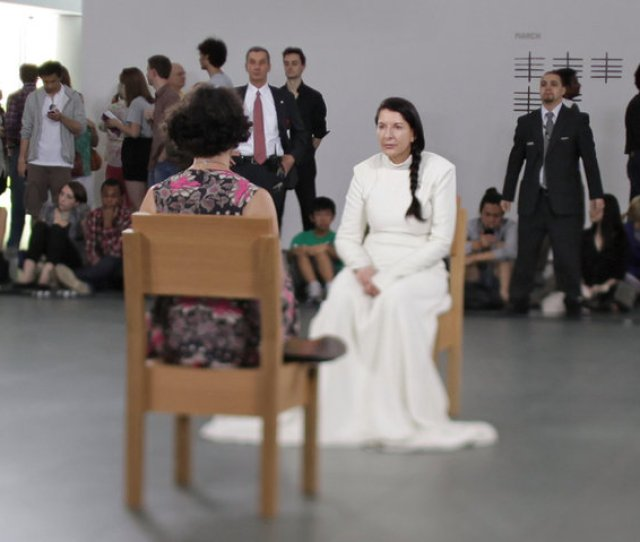 The Artist Marina Abramovic In A Performance Piece At Moma From The Matthew Akers Film Credit David Smoler Music Box Films