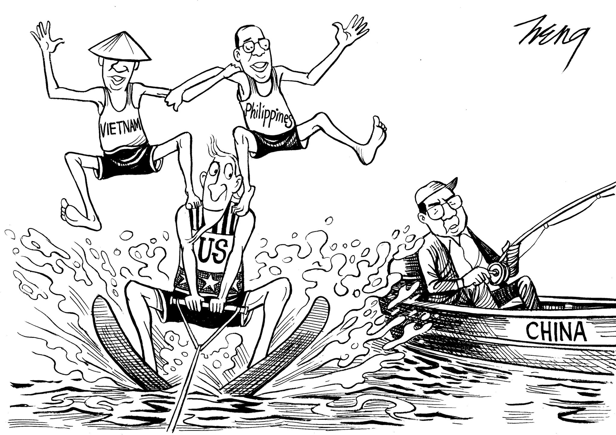 Editorial Cartoon Disputes Over The South China Sea The