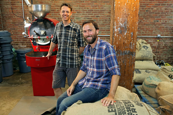 Mierisch, right, owns the Pulley Collective, a roaster in Brooklyn ...