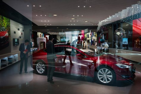 Image result for Tesla builds another giant 50-Supercharger station in China