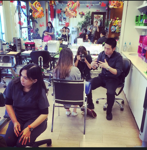 Nicole Bengiveno Photographed A Manicurist Receiving Treatment At Clinic In Flushing Queens For
