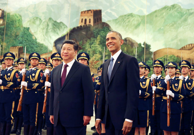 President Xi Jinping of China with President Obama in Beijing last year. Mr. Xi will be visiting Washington in a few weeks. Credit Andy Wong/Associated Press