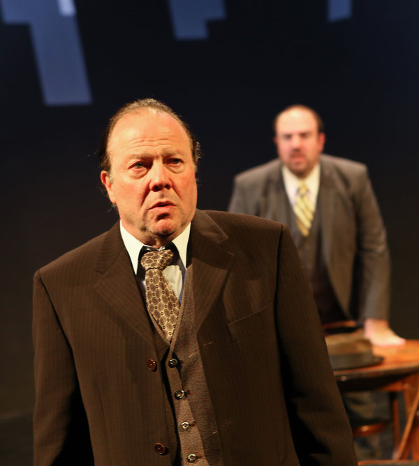 """Avi Hoffman as Willy Loman in Arthur Miller's """"Death of a Salesman"""" presented by New Yiddish Rep and the Castillo Theater in Manhattan."""