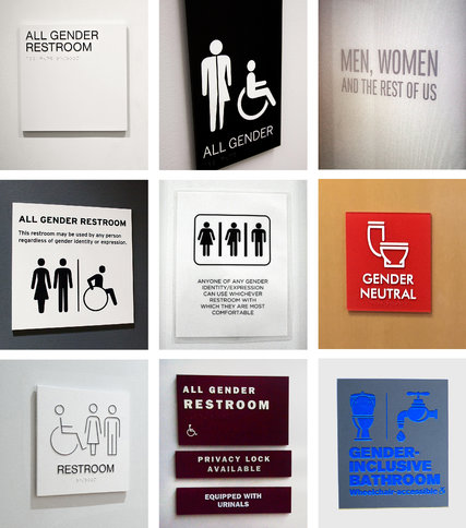 In All Gender Restrooms The Signs Reflect The Times The