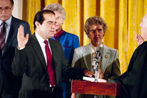 Antonin Scalia Takes Supreme Court Oath