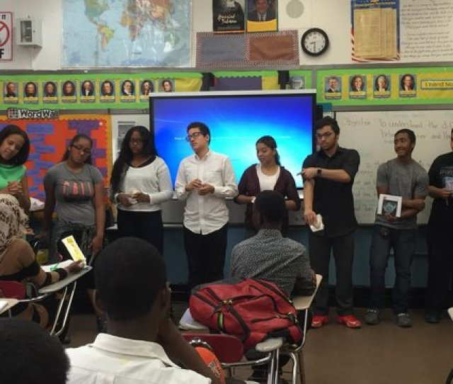 Students At Opportunity Charter School Participate In A Class Run By The Carrera Program Which
