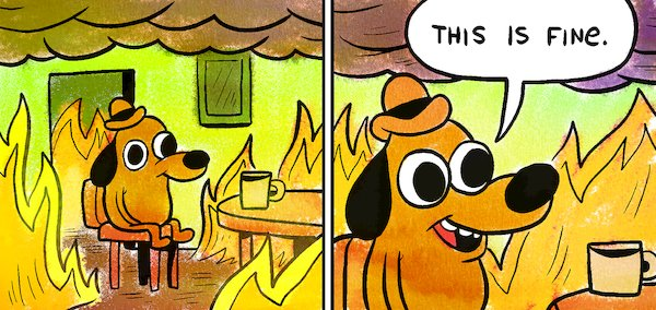 Image result for this is fine meme