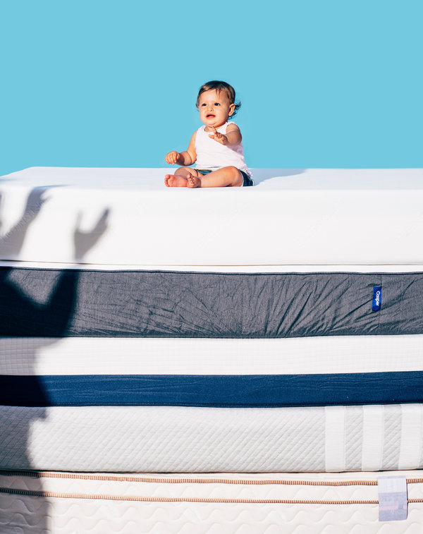 A Baby Atop Mattresses From Several Companies That Were The Subjects Of In Home Trials Credit Cole Wilson For New York Times