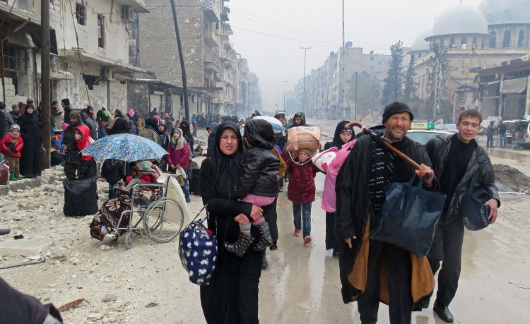 The journey from eastern Aleppo has been perilous for civilians, some of them older people in wheelchairs. CreditAgence France-Presse — Getty Images