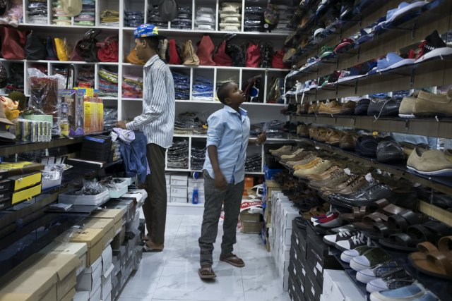 A shoe store at Mogadishu Mall. CreditTyler Hicks/The New York Times