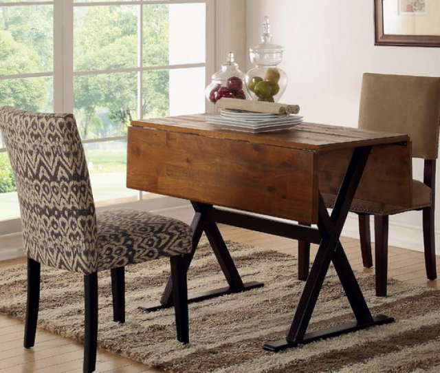Targets Drop Leaf Table Looks Similar To The Origami Drop Leaf Table From Crate Barrel But Its A Fourth The Price Its Not As Long