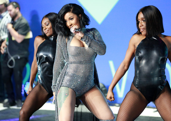 Image result for cardi b in red bottoms