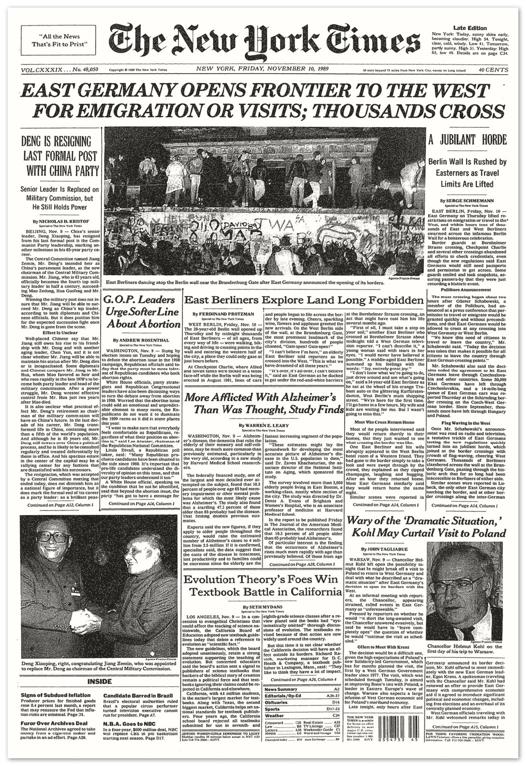 09insider victor image4 master1050 - Meet the New York Times Bureau Manager Who Witnessed the Fall of the Berlin Wall