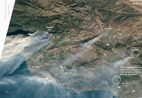 los angeles wildfire 1512594869107 master495 - California Fires Enter the Heart of Los Angeles