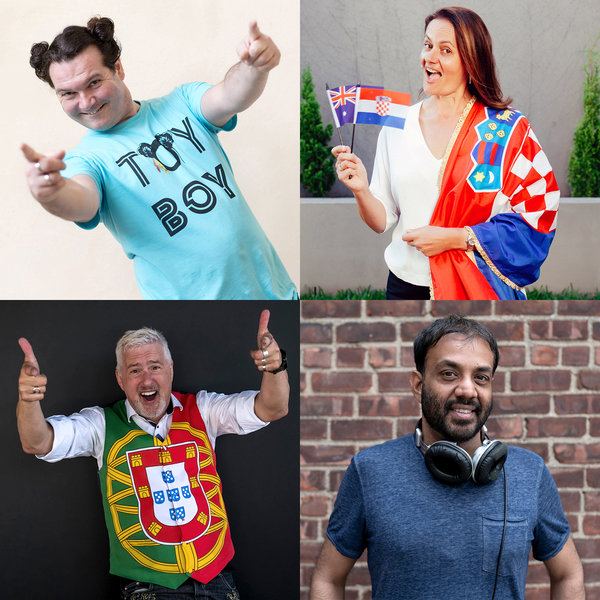 Dedicated followers of the Eurovision Song Contest, clockwise from top left: Frank Lochthove in Berlin; Maria Bresic in Sydney, Australia; Ricardo Mohammed in New York; and James Sheen, a Briton.