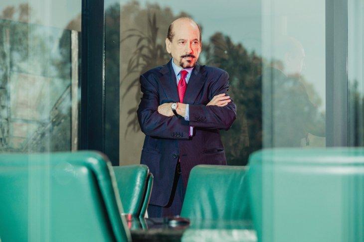 Michael Sitrick en las oficinas de Sitrick and Co. en Brentwood, California