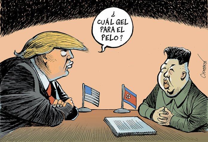 Resultado de imagen para Caricaturas de Trump y Kim Jong-un