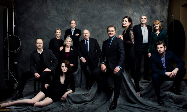 Image Cast Members And Producers Of Downton Abbey Michelle Dockery Foreground With
