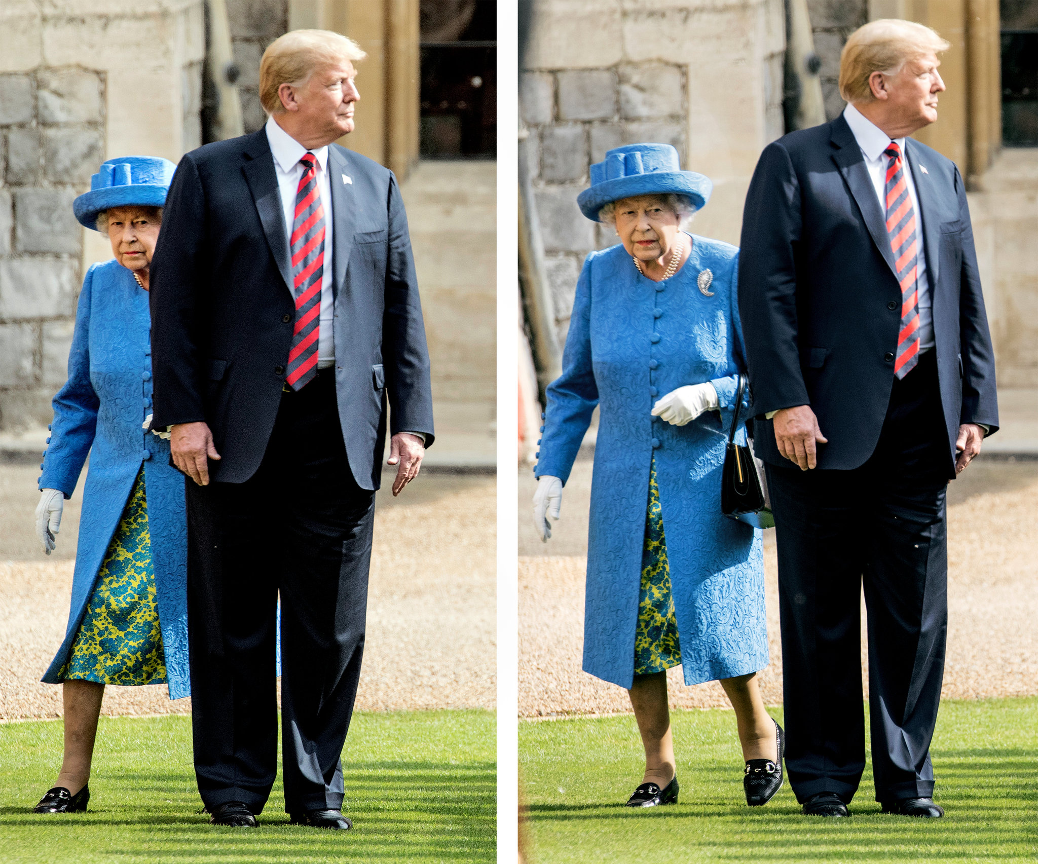 Trump Walks In Front Of Queen Elizabeth Causing Social Media