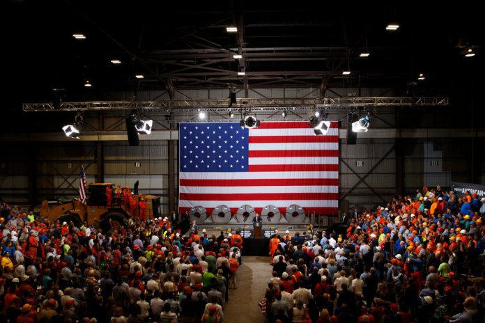 President Trump recently flew to Illinois to celebrate increased output and employment at a United States Steel plant in Granite City. The company said last week that its prices and profits have surged since the tariffs were implemented.