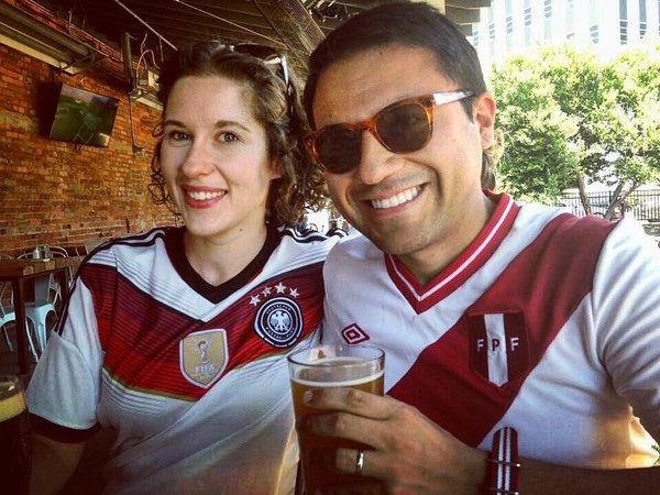 Annegret Oehme and her husband, Jesús Hidalgo Campos.