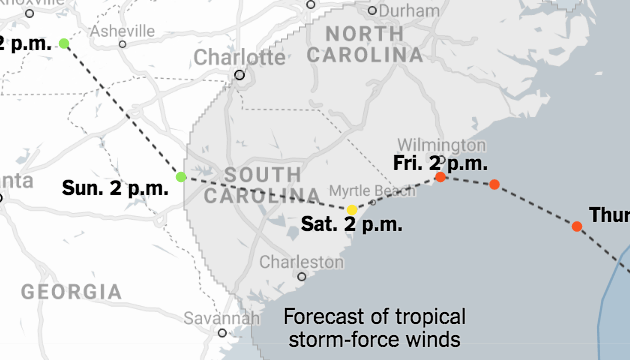 HD Decor Images » Catastrophic Rain Predicted as Hurricane Moves Toward Carolinas     Catastrophic Rain Predicted as Hurricane Moves Toward Carolinas   The New  York Times