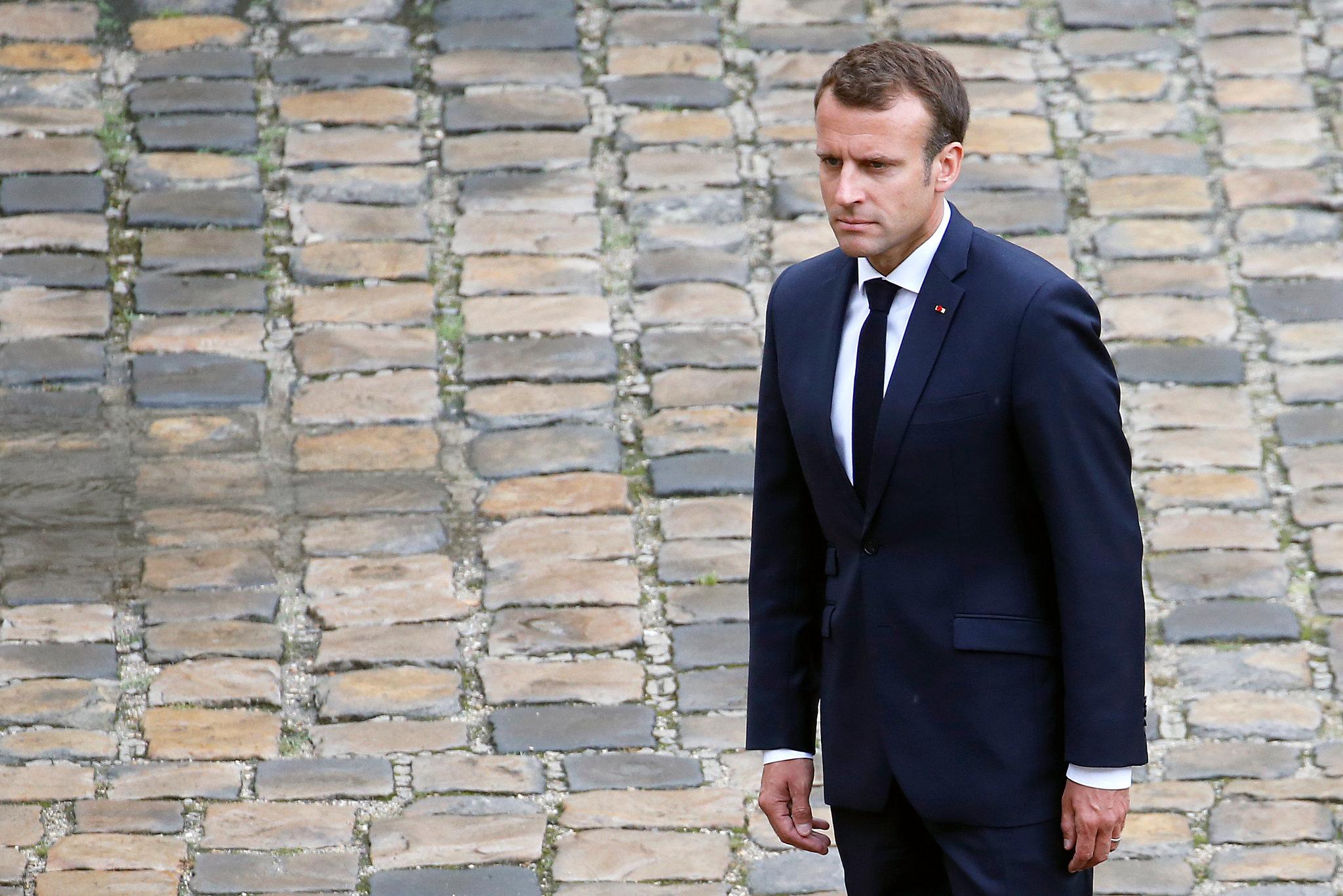 French President Emmanuel Macron Or Financial Times. British