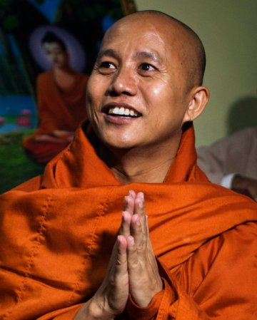 Ashin Wirathu, a Burmese Buddhist monk who was once jailed for his hate speech.
