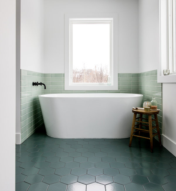Image Patterned Tile Isnt The Only Way To Add Drama To A Bathroom By