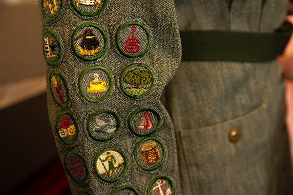 A Girl Scout uniform worn by Sylvia Plath.