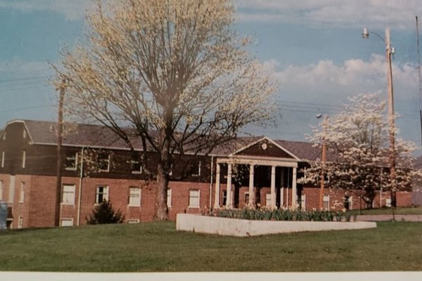 A college yearbook photo showing Morristown College in 1987.