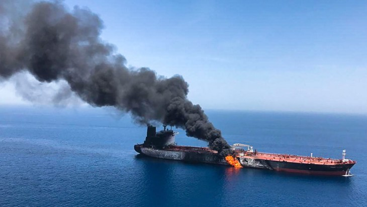 Image result for Two foreign oil tankers attacked off the Persian Gulf
