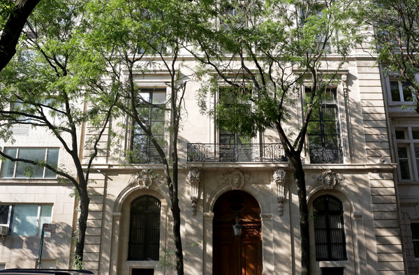 Mr. Epstein's mansion on the Upper East Side.