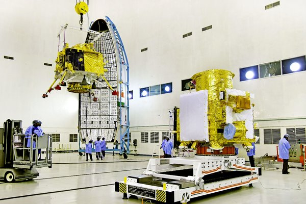 Chandrayaan-2 includes a moon orbiter, a lander called Vikram and a robotic rover called Pragyan that will explore the lunar surface.