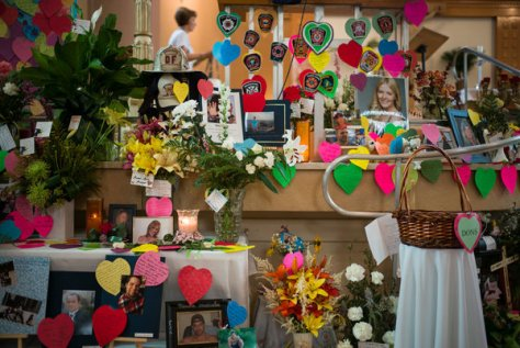 After the crash, an impromptu shrine went up at a local church.
