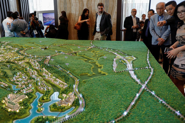 A model of a Trump-branded project south of Jakarta.