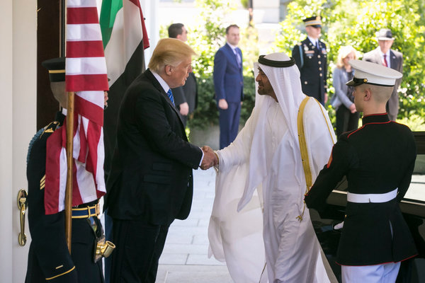 President Trump and Sheikh Mohammed bin Zayed al-Nahyan, the crown prince of Abu Dhabi, in 2017 at the White House.