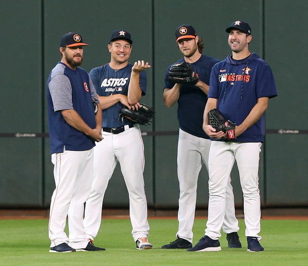 Houston's pitching staff, which includes Wade Miley, Joe Smith, Gerrit Cole and Justin Verlander, benefits greatly from the work of the team's analytics department.
