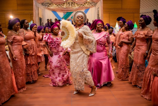 Image result for nigerian wedding guests at the reception