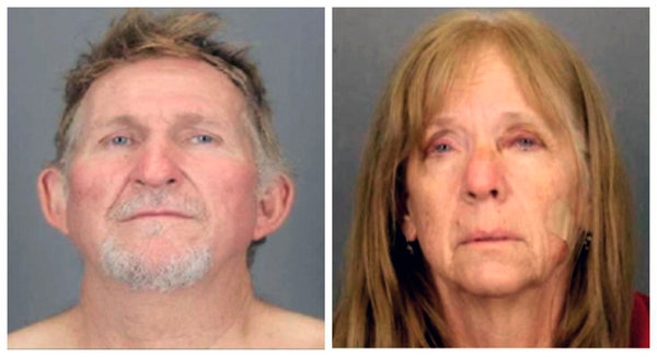 Blane Barksdale and his wife, Susan Barksdale. The couple, suspects in a Tucson murder, escaped after overpowering two security guards while being extradited to Arizona from New York.