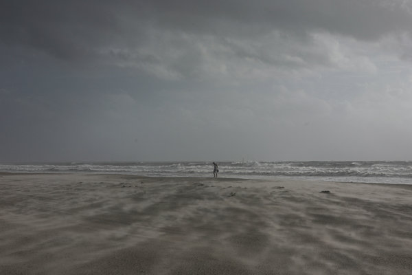 Winds whipped Cape Canaveral, Fla., on Tuesday as Dorian approached the Florida coast.