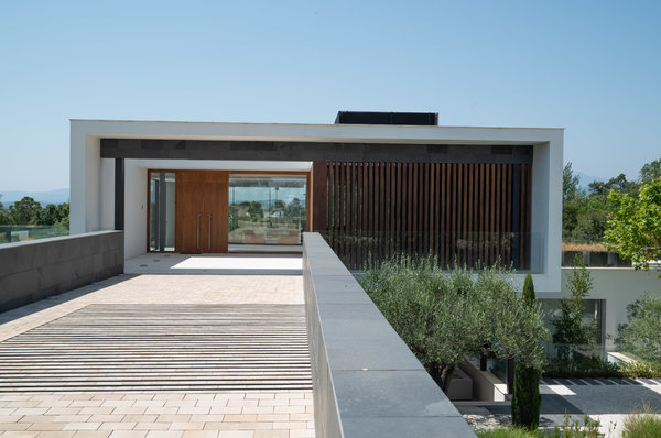 A contemporary home. The home's owners hired the resort to handle its design and construction.
