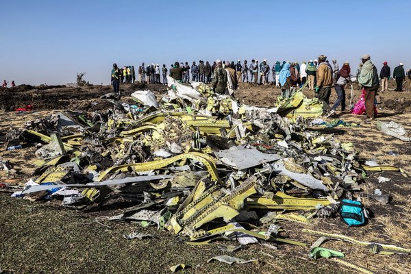 Ethiopian Airlines Flight 302 crashed near Addis Ababa in March 2019.