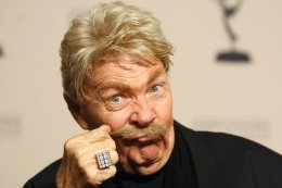 Rip Taylor in 2008. He was known for his wild style, his mustache and his affinity for nicknames, among them the King of Confetti and the Prince of Pandemonium.