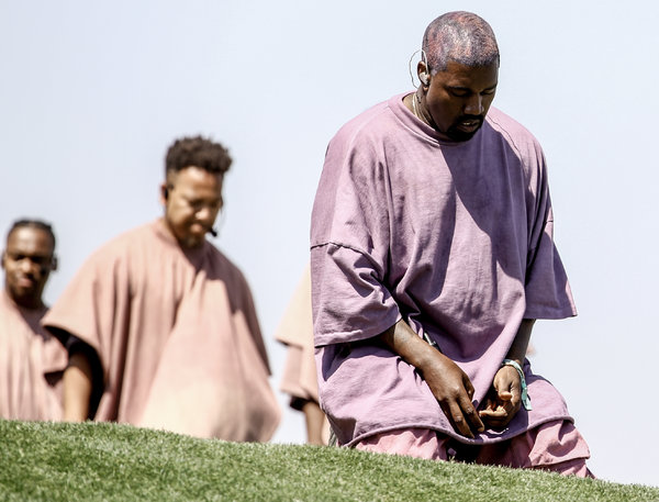 Kanye West is mining black faith traditions for his music.