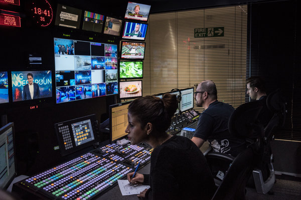 The Russia Today studios in London.