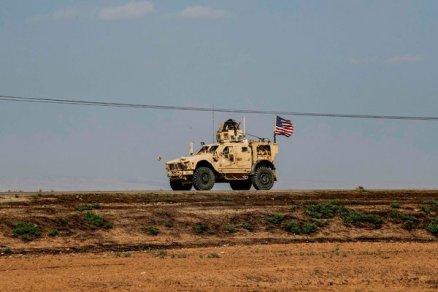 An American military vehicle in northeastern Syria last week.