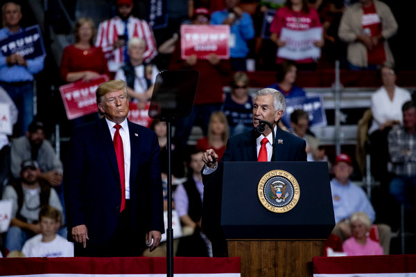 President Trump visited Louisiana on Wednesday to bolster the candidacy of Eddie Rispone, the Republican candidate for governor.